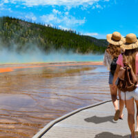 Grand Prismatic Spring at Yellowstone National Park; Courtesy of margaret.wiktor/Shutterstock