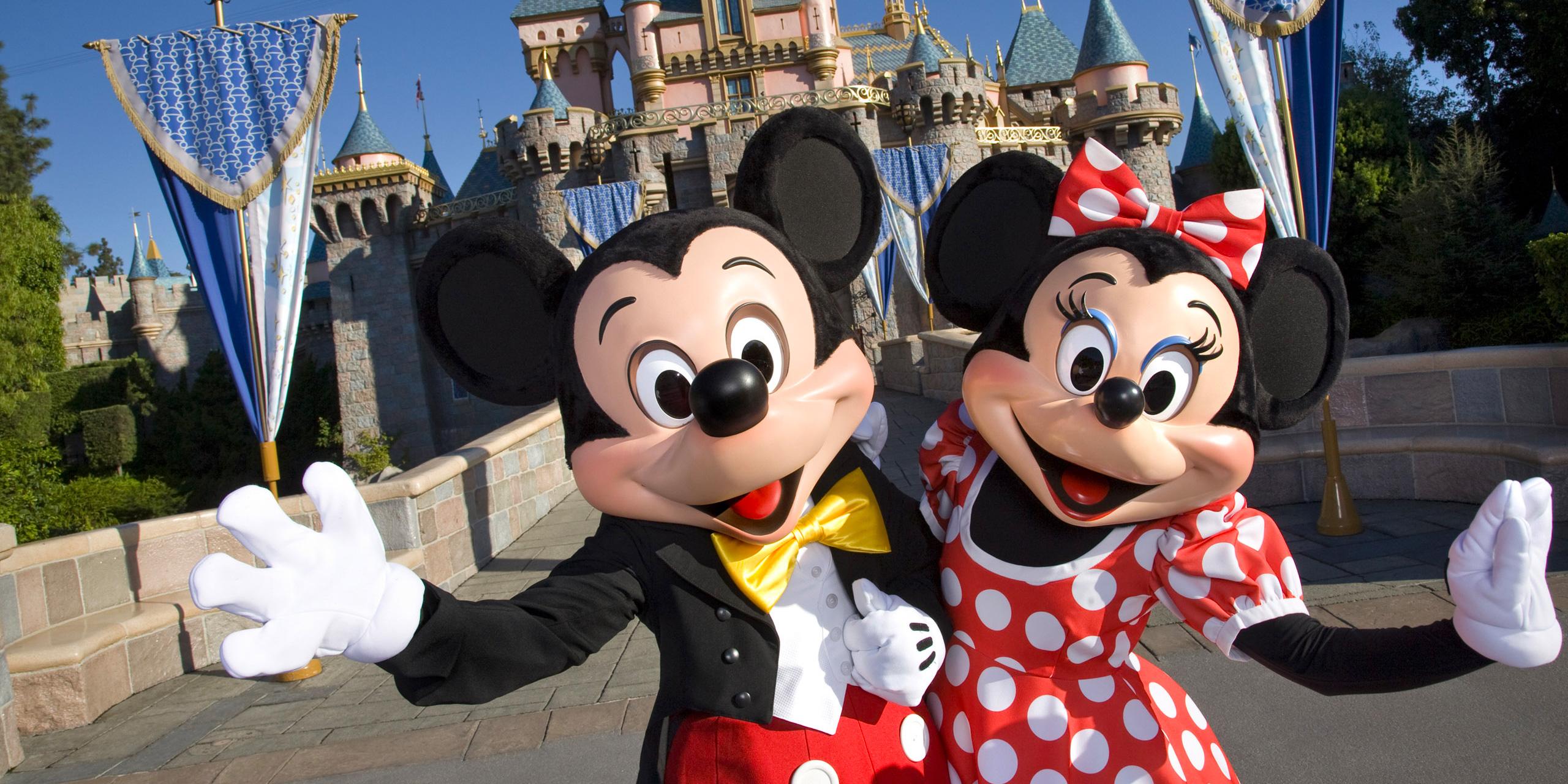 Mickey and Minnie mouse; Courtesy of Walt Disney World