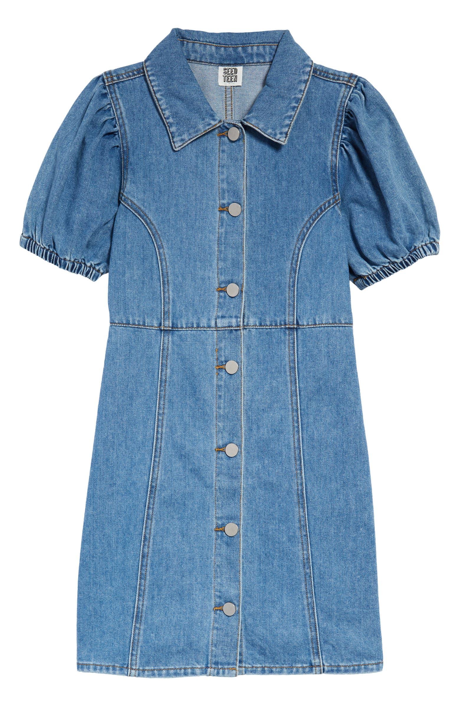 Kids' denim dress