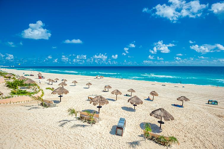 Cancun beach; Courtesy of javarman/Shutterstock