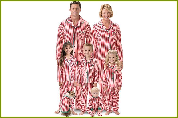 Candy Cane Pajamagram Matching Family Christmas Pajamas ; Courtesy of Amazon