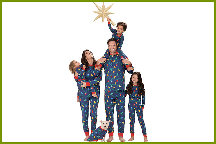 Christmas Lights Matching Pajamas ; Courtesy of Amazon