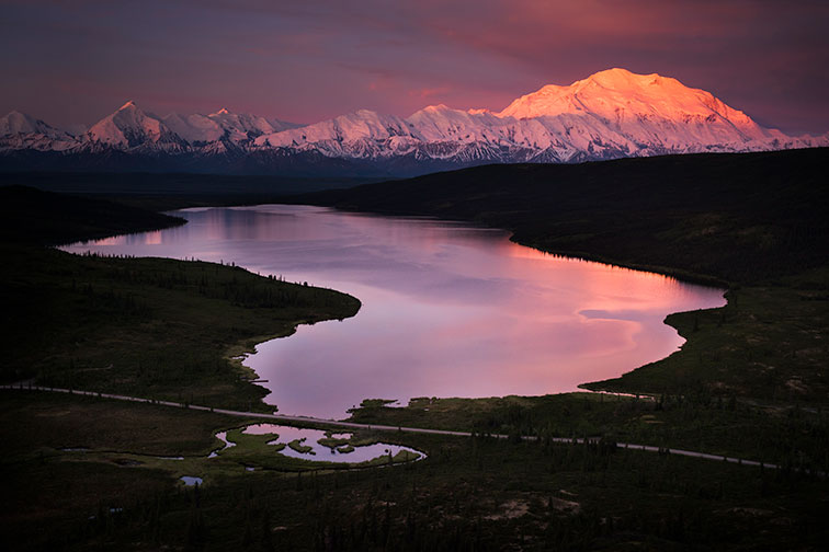 Denali National Park at Sunset