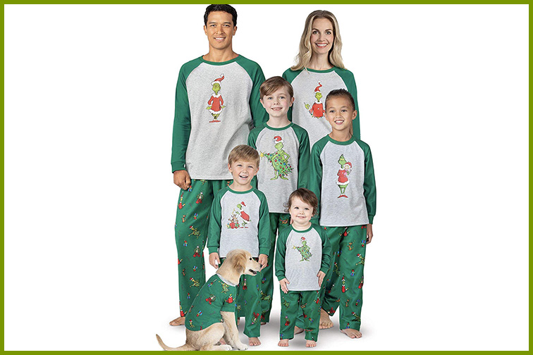 Dr. Seuss' The Grinch Pajamagram Christmas PJs ; Courtesy of Amazon