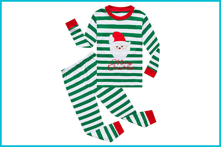 Kiki Zoe Long Sleeve Christmas Pajamas Sets ; Courtesy of Amazon