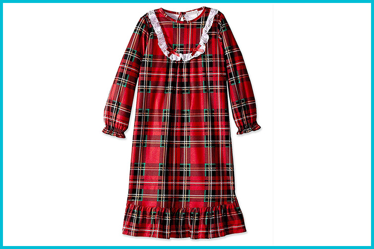 Komar Kids Traditional Holiday Plaid Nightgown; Courtesy of Amazon