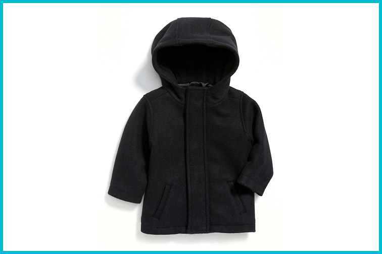 Old Navy Soft-Brushed Hooded Coat for Baby; Courtesy of Old Navy
