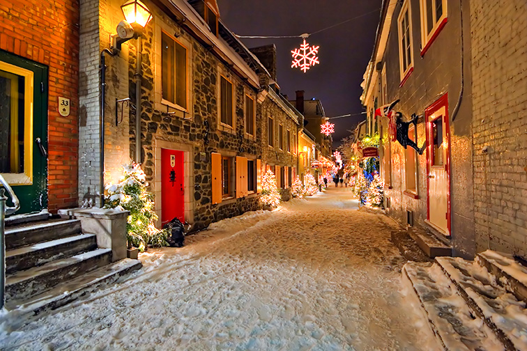 Quebec city in montreal; Courtesy of Alexander Kolomietz/Shutterstock
