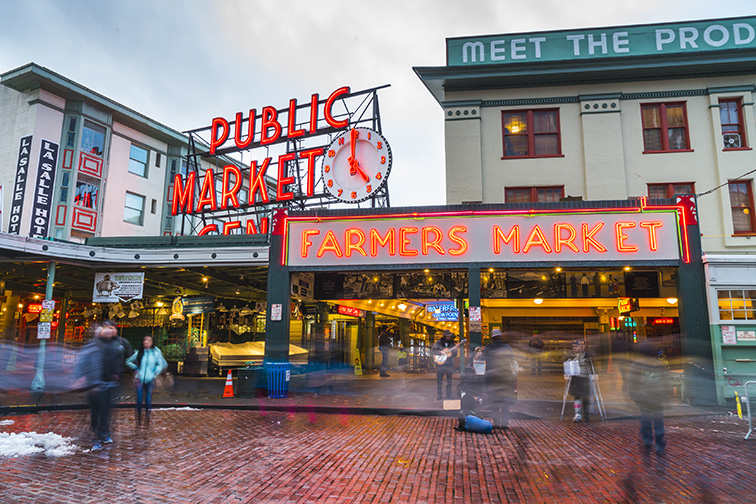 Pike Place Market in Seattle