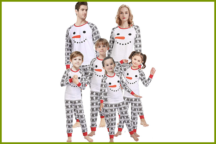 Snowman Matching Christmas Pajamas ; Courtesy of Amazon