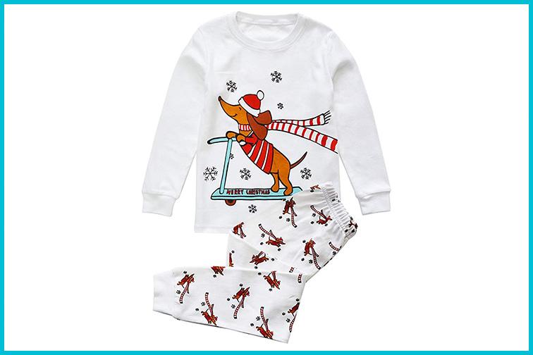 Toddler Long Sleeve Holiday Pajamas; Courtesy of Amazon