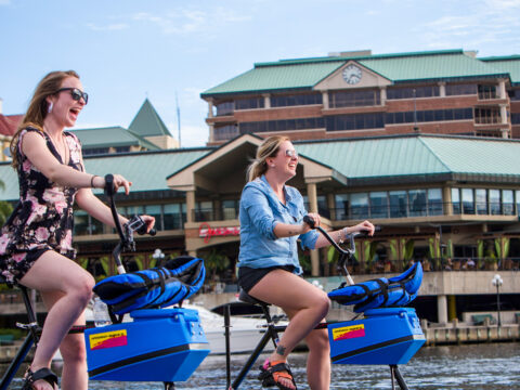 water bikes in tampa; Courtesy of Tampa CVB
