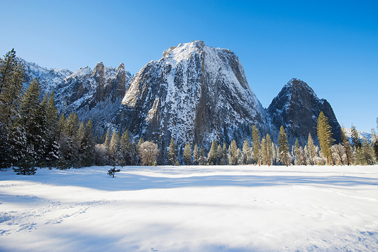 yosemite in winter; Courtesy of somchaij/Shutterstock