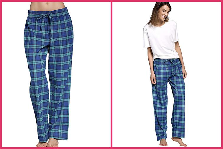 CYZ Women's Cotton Super Soft Flannel Plaid Pajama/Lounge Pants; Courtesy of Amazon