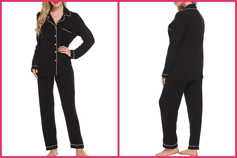 Ekouaer Pajamas Set Long Sleeve Sleepwear; Courtesy of Amazon