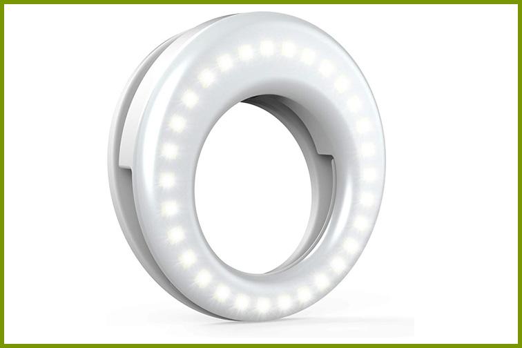 QIAYA Selfie Light Ring; Courtesy of Amazon