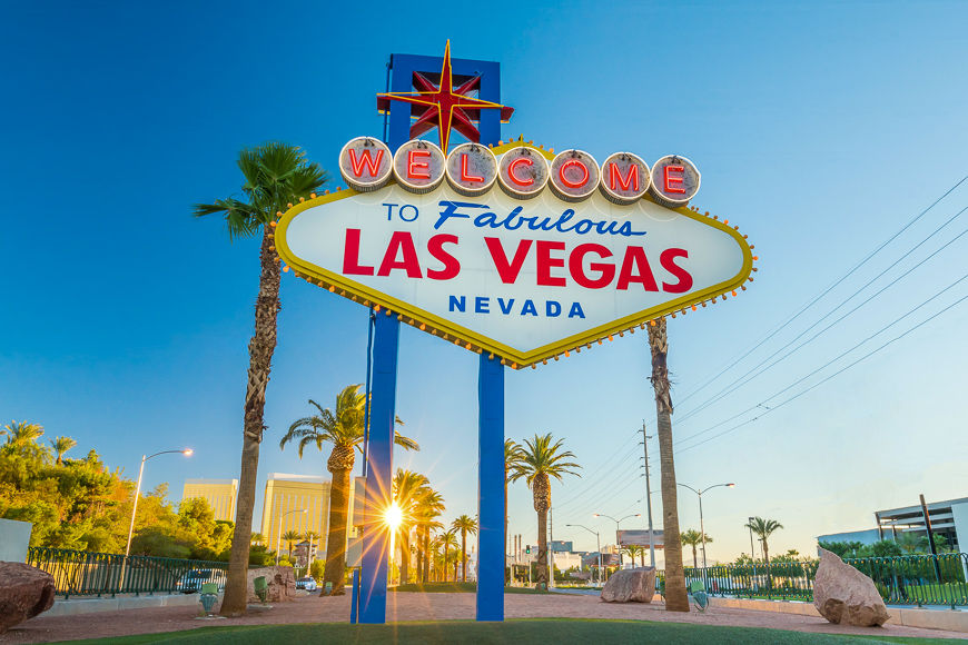 The Welcome to Fabulous Las Vegas sign in Las Vegas ; Courtesy of f11photo /Shutterstock