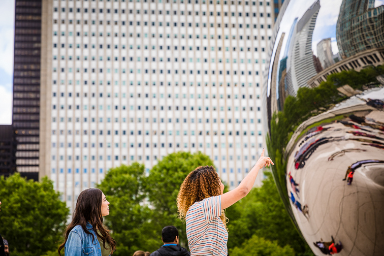Capture Your Reflection in Cloud Gate;Courtesy of Choose Chicago