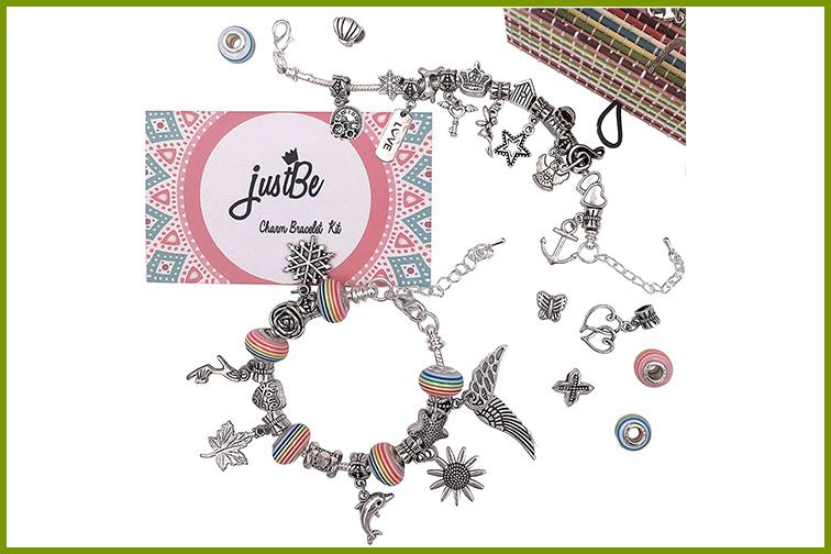 justBe Charm Bracelet Making Kit; Courtesy of Amazon