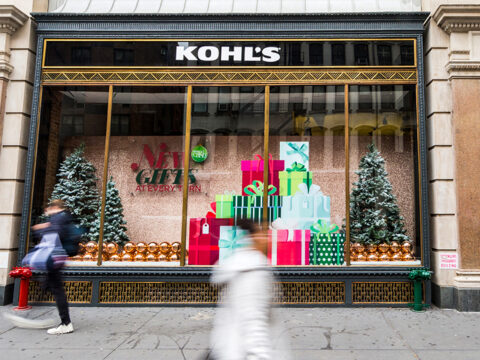 Kohl's holiday window; Courtesy of Kohl's
