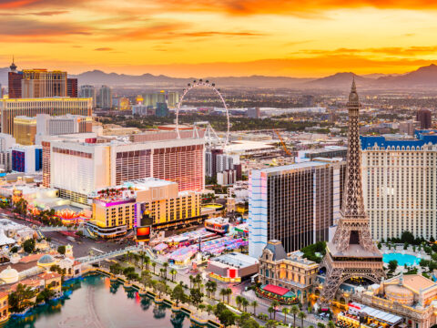 Las Vegas aerial view; Courtesy of Sean Pavone/Shutterstock