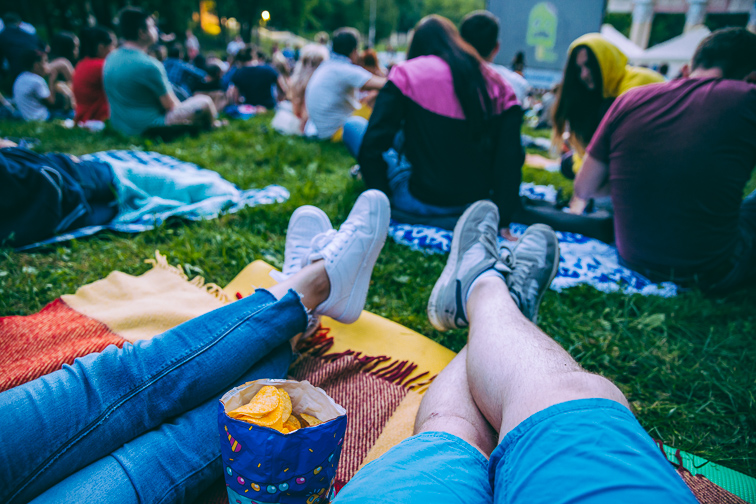 Movies outdoors; Courtesy of Shutterstock