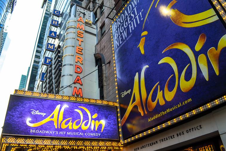 Aladdin on Broadway; Courtesy of Dave Parfitt
