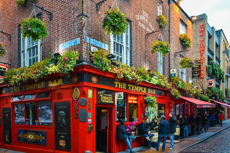 Temple Bar in Dublin; Courtesy of Dave Parfitt