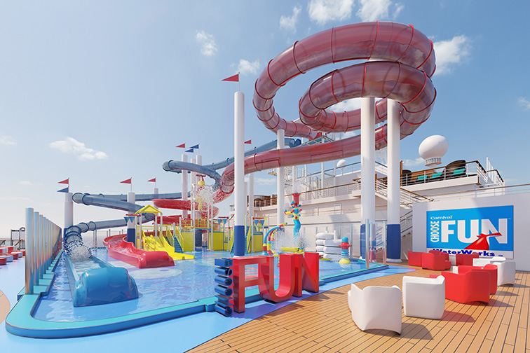 Carnival Panorama waterpark; Courtesy of Carnival Cruise Line