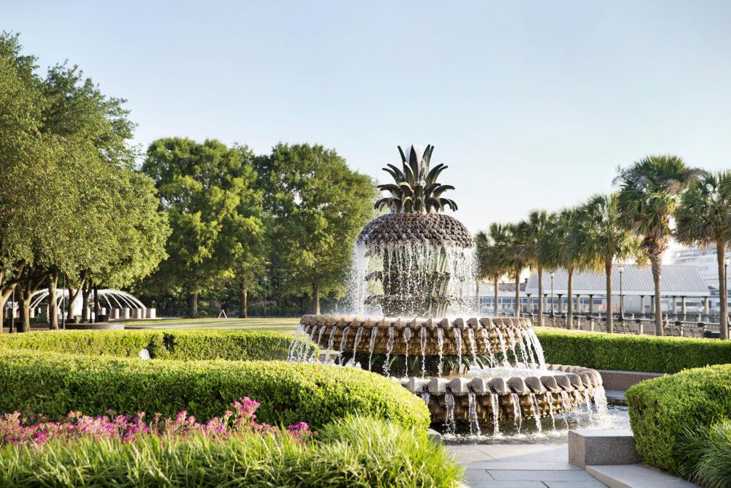 Pineapple Fountain in Charleston; Courtesy Explore Charleston