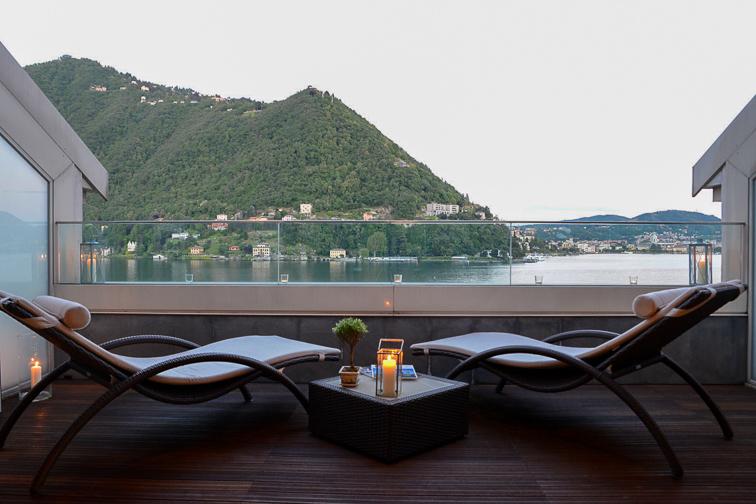 Lake Como view from Villa Fiori; Courtesy of Villa Fiori