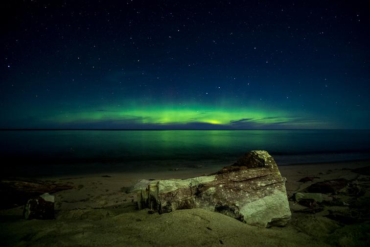 Marquette, MI norther lights; Courtesy of Matthew J Leppek