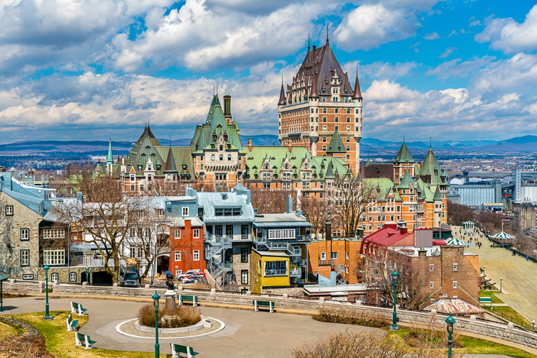 Quebec City, Canada; Courtesy of Leonid Andronov/Shutterstock