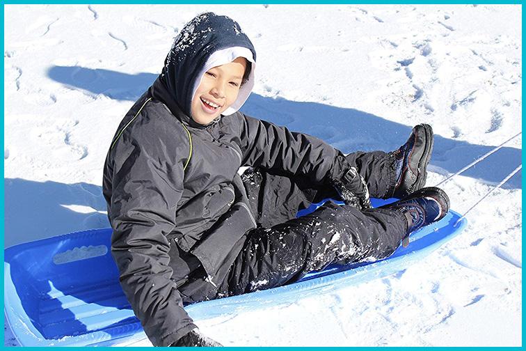 Slippery Racer Xtreme 1-2 person Toboggan Snow Sled; Courtesy of Amazon