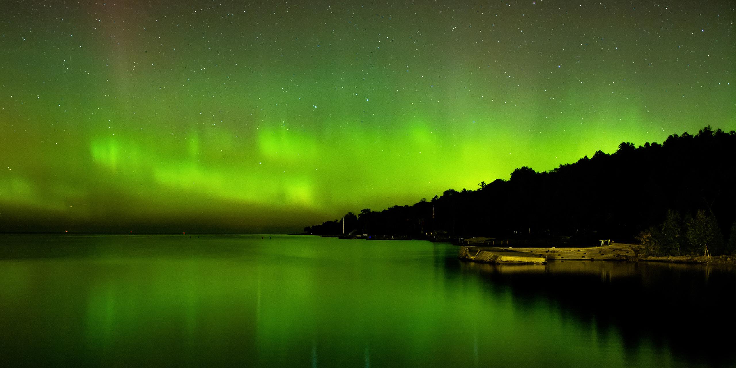 Door County, WI northern lights; Courtesy of Ben Baeb/Shuttestock