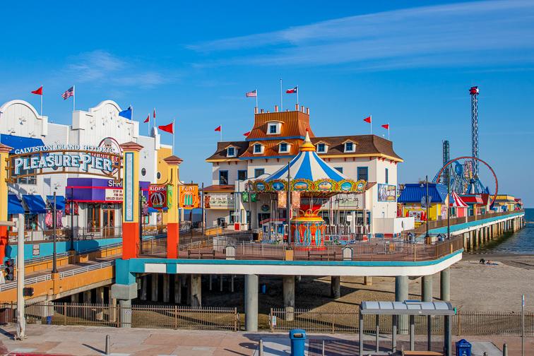 Galveston Island Pleasure Pier; Courtesy of Travel Texas