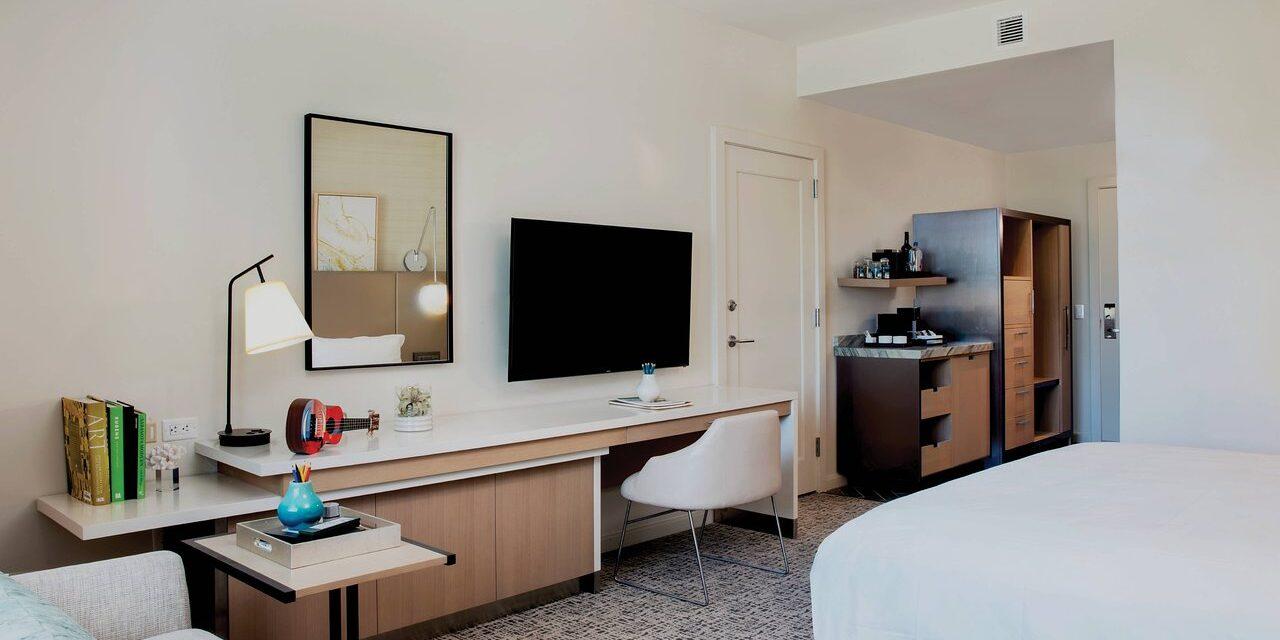 Guestroom at Art Ovation Hotel; Courtesy of Art Ovation Hotel