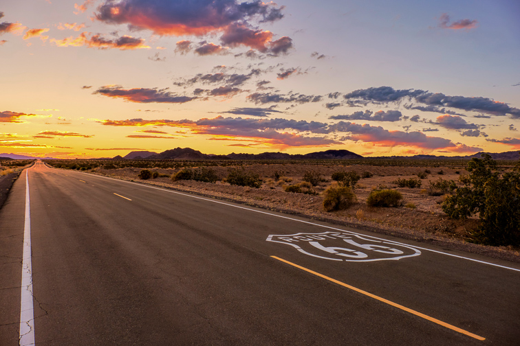 Drive Route 66; Courtesy of Benjamin North/Shutterstock