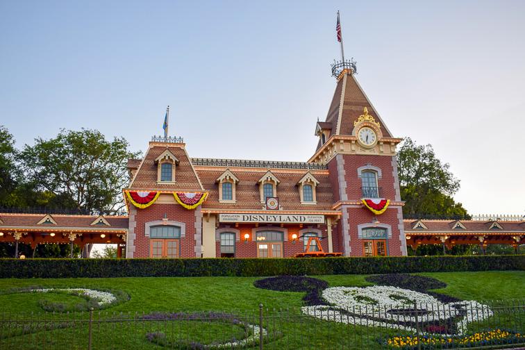 Disneyland Railroad Station in Disneyland Park, CA