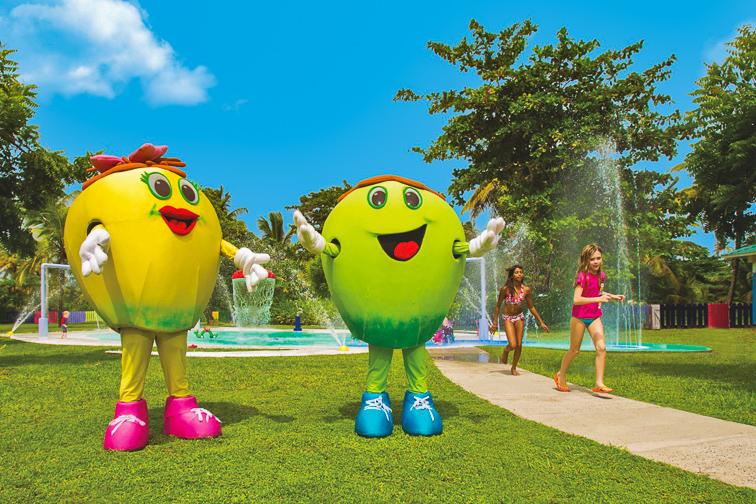 Coconut Bay Beach Resort & Spa mascots; Courtesy of Coconut Bay Beach Resort & Spa