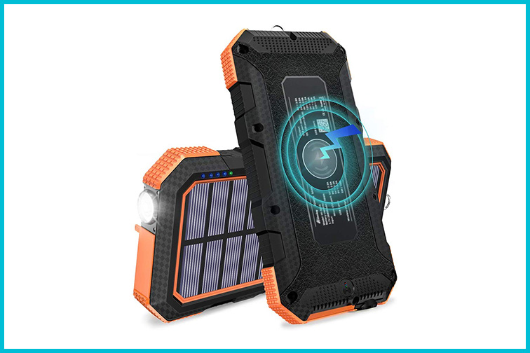 FEELLE 24000mAh Wireless Portable Solar Charger; Courtesy of Amazon