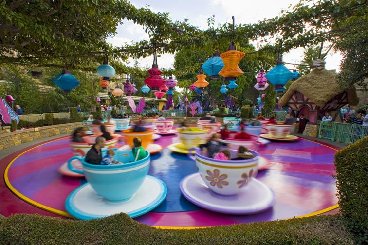 Tea cups ride in Disneyland; Courtesy Disney