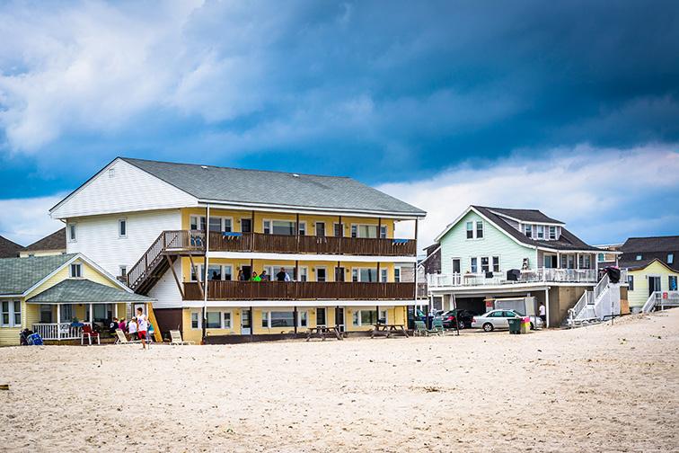 Beachfront homes in Hampton Beach, New Hampshire.; Courtesy of Jon Bilous/Shutterstock
