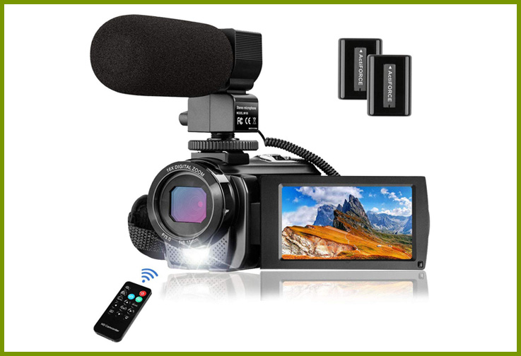 MELCAM 1080P Camcorder with Microphone; Courtesy of Amazon