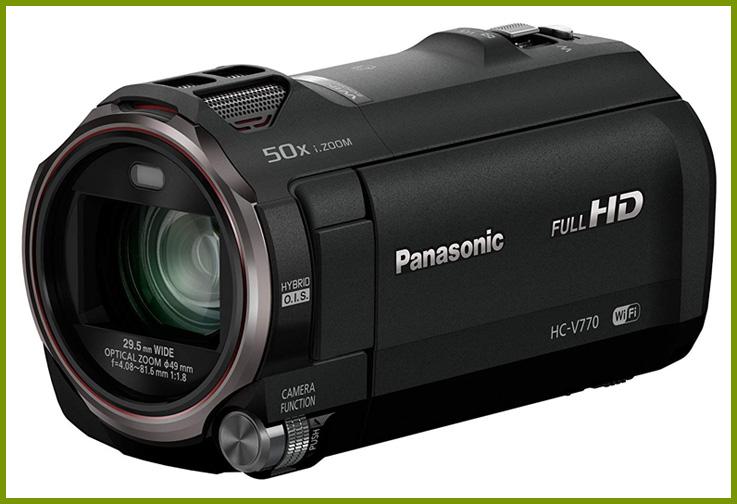 Panasonic HC-V770 Full HD Camcorder; Courtesy Amazon