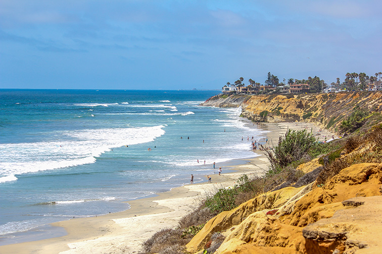 Seaside Beach, Encinitas; Courtesy of Tonya Staab/Shutterstock
