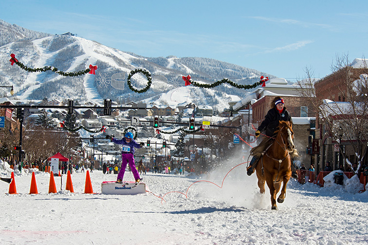 Steamboat Springs Winter Carnival DOnkey Jump; Courtesy of Steamboat Springs Chamber/ Rory B. Clow