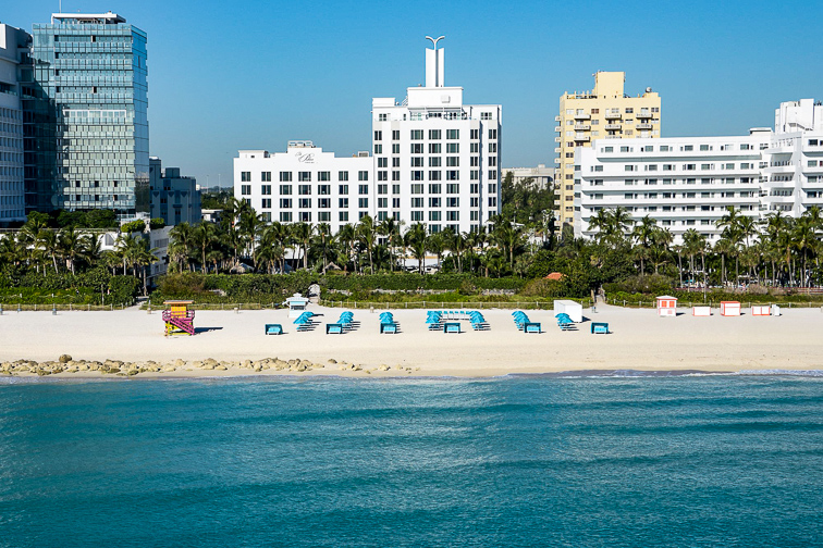The Palms Hotel and Spa beach front; Courtesy of The Palms Hotel and Spa