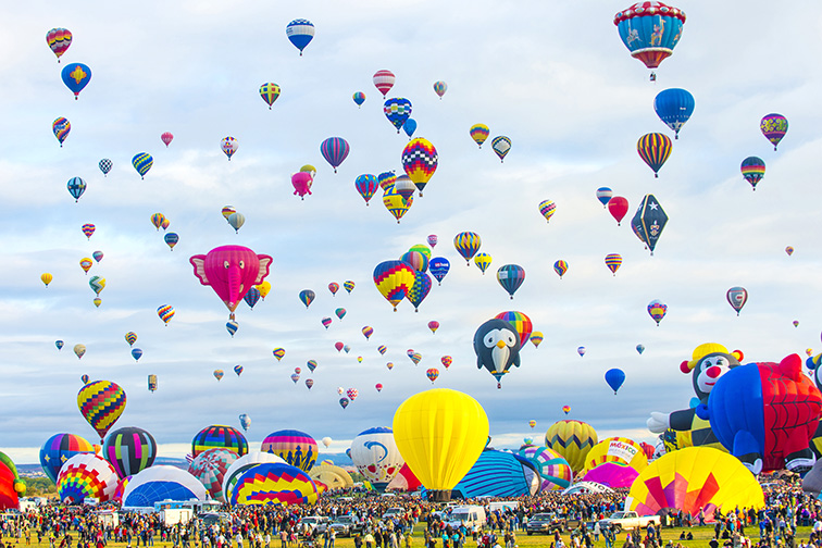 Albuquerque, New Mexico Balloon Fiesta; Courtesy of Gary L. Brewer/Shutterstock