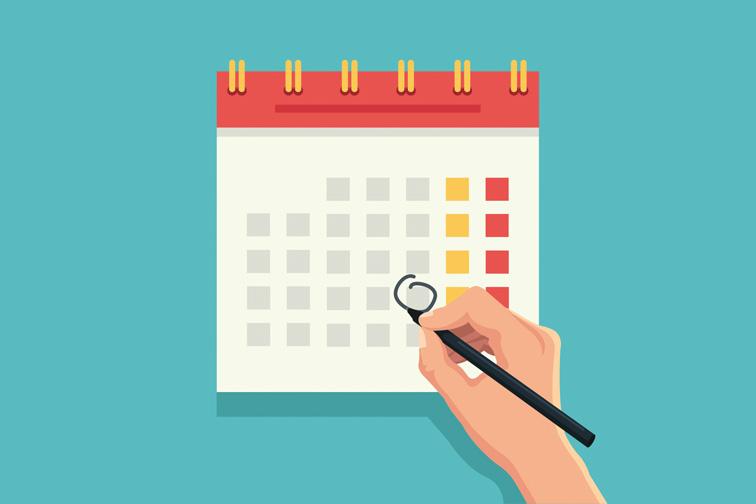 calendar planning; Courtesy of Shutterstock